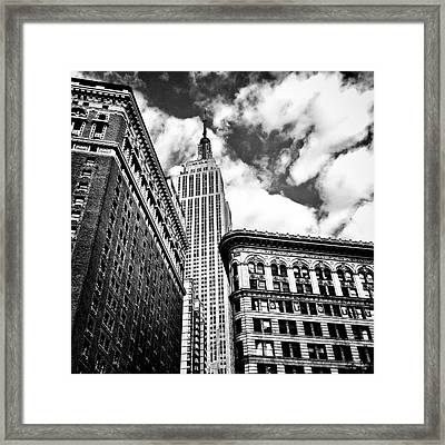 Empire State Building And New York City Skyline Framed Print by Vivienne Gucwa