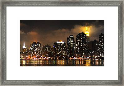 Empire State Building From Long Island City Framed Print