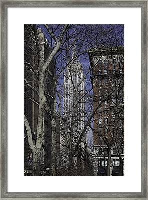 Empire State Building From Madison Square Park - New York City Framed Print by Erin Cadigan