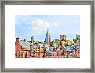 Empire State Building From The High Line Framed Print by Randy Aveille
