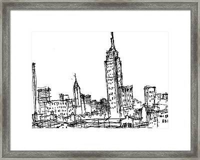 Empire State Building  Framed Print by Jason Nicholas