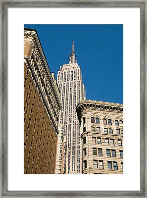Framed Print featuring the photograph Empire State Building by Michael Dorn
