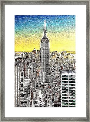 Empire State Building New York City 20130425 Framed Print by Wingsdomain Art and Photography