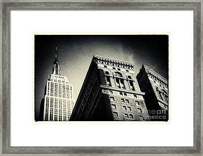 Empire State Building New York City Framed Print by Sabine Jacobs