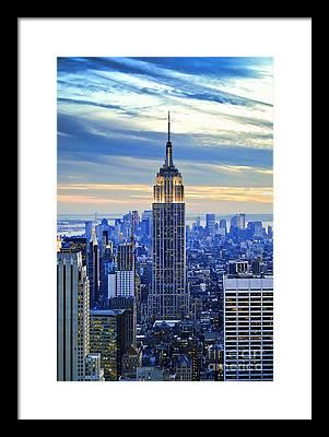 Manhattan Skyline Framed Prints