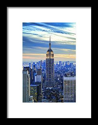 Manhattan Skyline Framed Prints