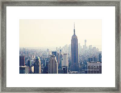 Empire State Building Nyc Framed Print