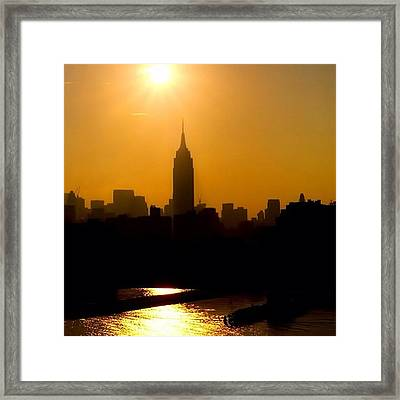 Empire State Building... Nyc.  #nyc Framed Print