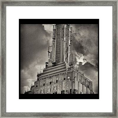 Empire State Building Framed Print by Scott Radke