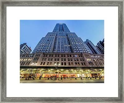 Framed Print featuring the photograph Empire State Building by Steve Zimic