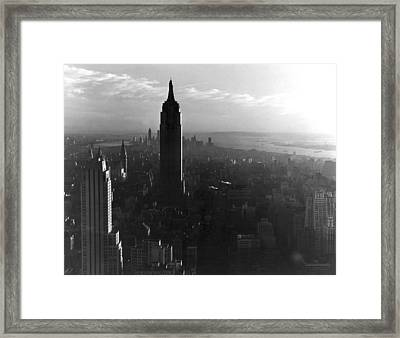 Empire State Building Framed Print by Underwood Archives