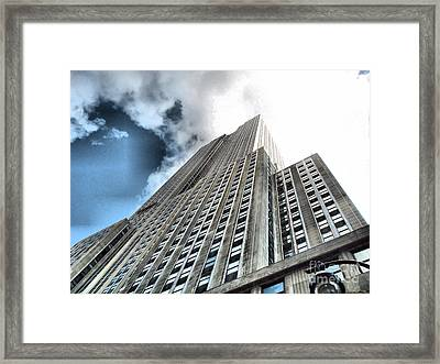 Empire State Building - Vertigo In Reverse Framed Print