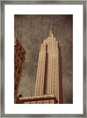 Empire State Building Vintage Framed Print