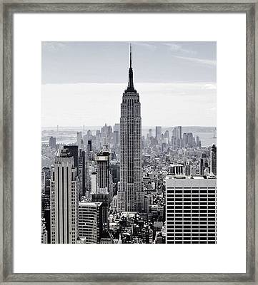 Empire State Framed Print by CD Kirven