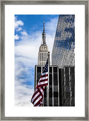 Empire State Framed Print by Chris Halford