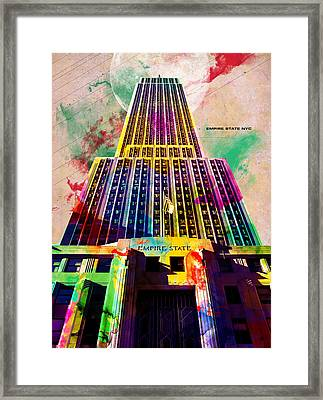 Empire State Framed Print by Gary Grayson