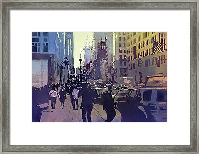 Empire State Framed Print by Kris Parins
