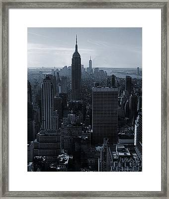 Empire State Of Mind Framed Print by Dan Sproul