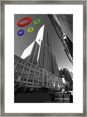Empire State Of The Rings  Framed Print by Rob Hawkins