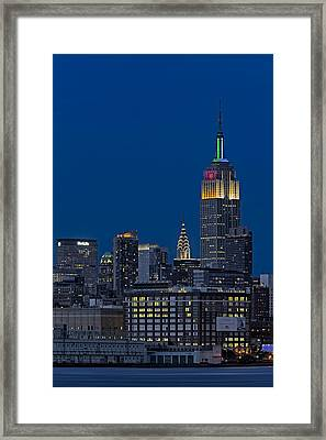 Empire State Framed Print by Susan Candelario