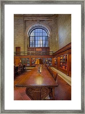Empire State View From The Nypl Framed Print by Susan Candelario