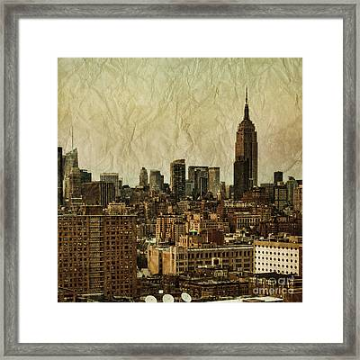 Empire Stories Framed Print