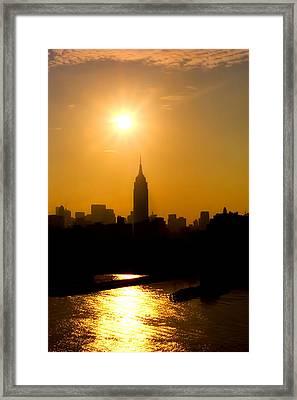 Empire Sunrise Framed Print by Joann Vitali