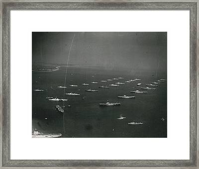 Empire�s Warships Line Up For The Coronation Review At Framed Print by Retro Images Archive