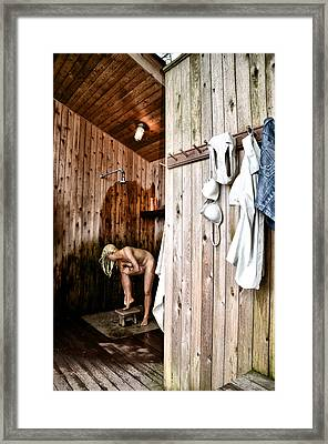 Employee Showers Framed Print by Bill Cannon