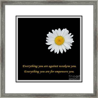 Empowerment Framed Print by Barbara Griffin