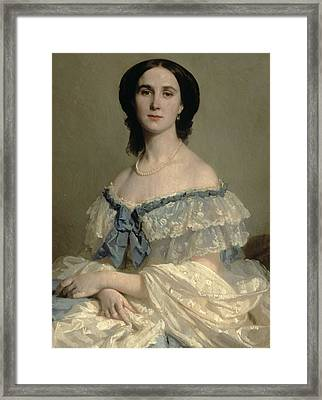 Empress Charlotte Of Mexico Framed Print by Isidore Pils