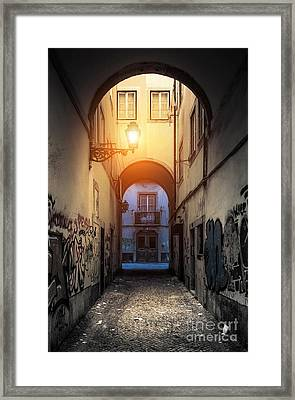 Empty Alley Framed Print by Carlos Caetano