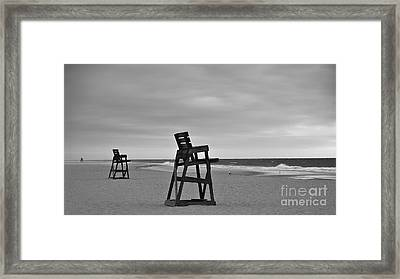 Empty Beach Framed Print by Mark Miller
