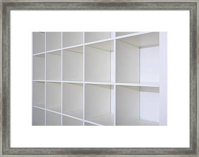 Empty Bookcase Framed Print