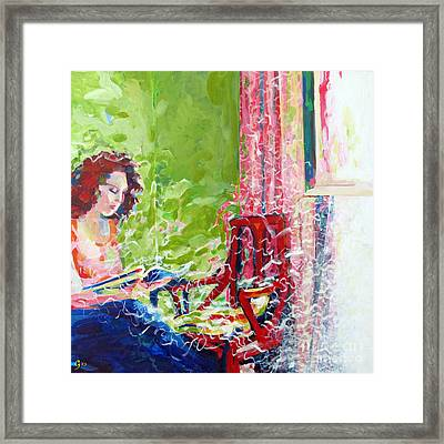 Empty Chair Framed Print by Gilat Gur-arie greenberg