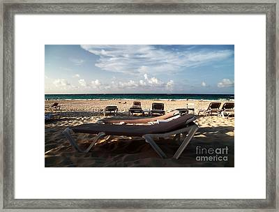 Empty Chair Framed Print by John Rizzuto