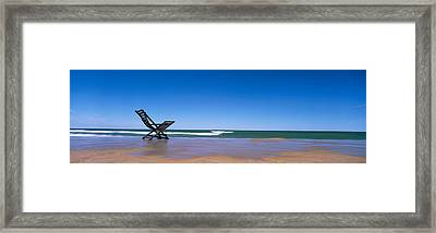 Empty Chair On The Lake Side, Lake Framed Print by Panoramic Images
