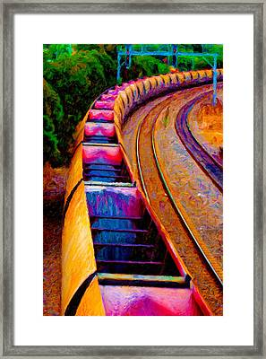 Empty Coal Hoppers Framed Print by Chuck Mountain