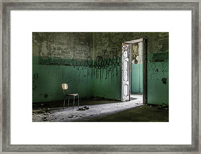 Empty Crazy Spaces Framed Print