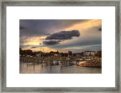 Empty Docks Framed Print
