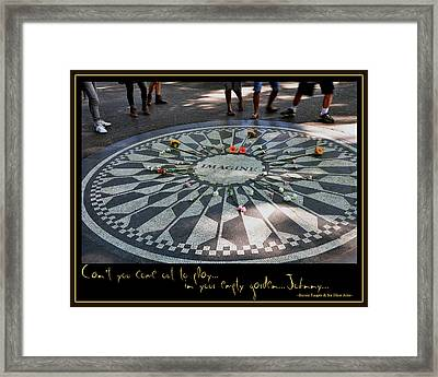 Empty Garden Framed Print by Marie  Gale