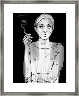 Empty Joan Framed Print by H James Hoff