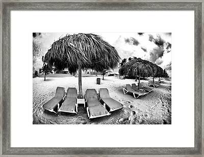 Empty Lounges Framed Print by John Rizzuto