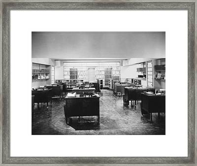 Empty Office Scene Framed Print
