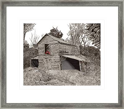 Empty Old Barn Framed Print by Jack Pumphrey