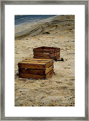 Empty Or Full Framed Print by Nadine Walther