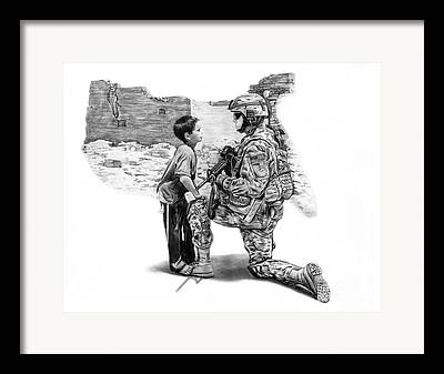 Soldier Illustrations Framed Prints