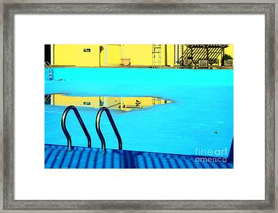 Empty Public Swimming Pool Bronx New York City Framed Print