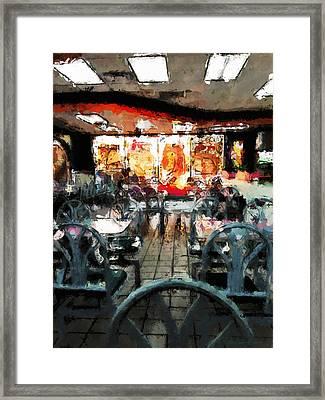 Empty Restaurant Framed Print by Robert Smith