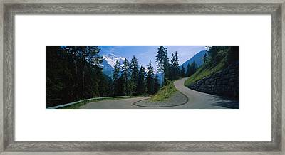 Empty Road Passing Through Mountains Framed Print by Panoramic Images
